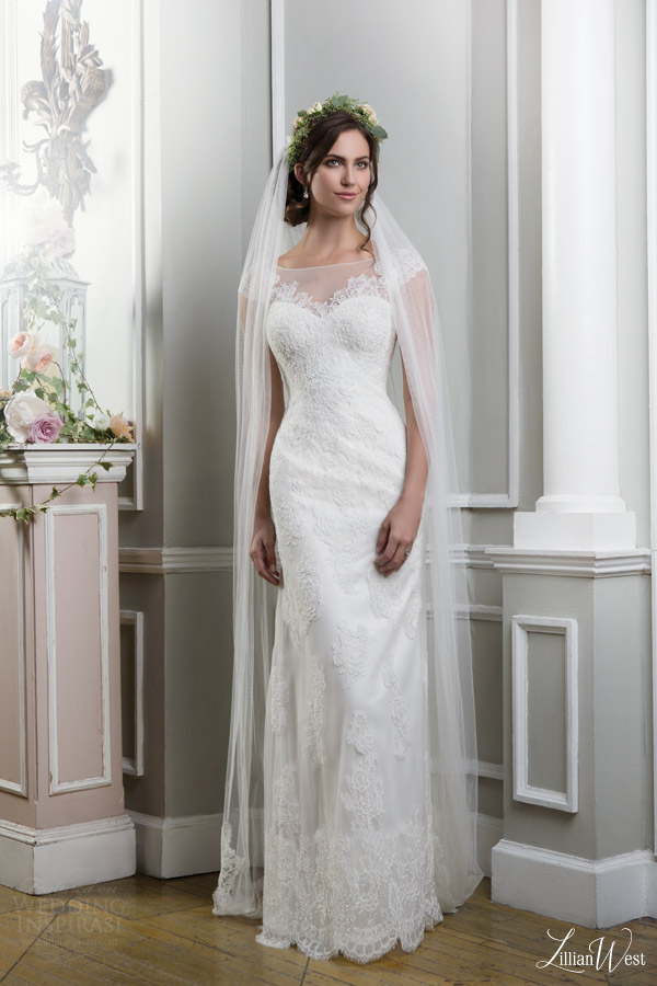 lillian-west-2016-bridal-preview-style-6375-illusion-neckline-cap-sleeves-lace-wedding-dress