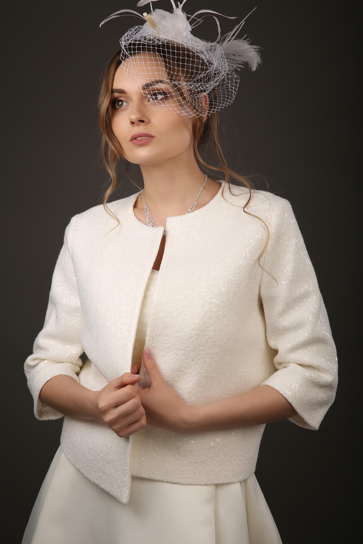 Свадебный пиджак из шерсти
